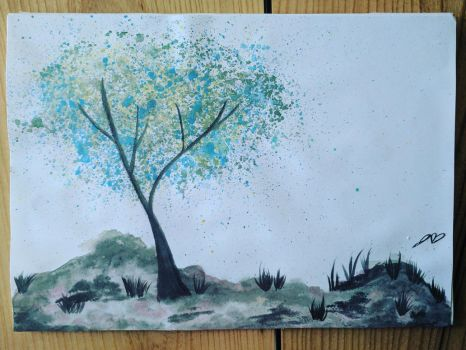 Water Color Tree by Jokerluvr