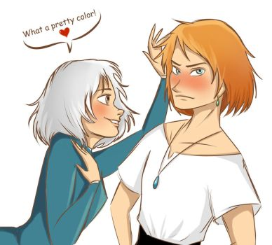 Pretty color (Howl x Sophie sketch) by Evangeline-Art
