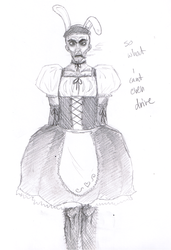 Man In Maid Dress by Tigrantia