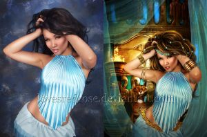 Egyptian-Princess-Before-and-After by EnchantedWhispersArt