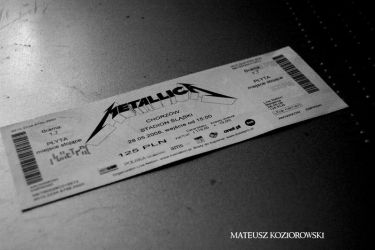 METALLICA ticket by Sznapps