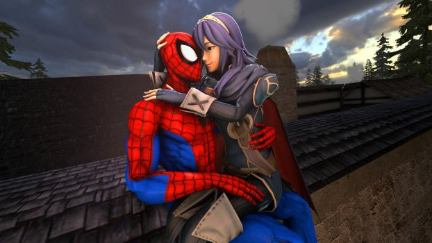 Lucina and Spider-Man : hold tight by kongzillarex619