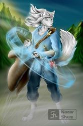 Commission: White Wolf by nazar-shum