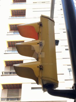 Vintage Spanish Traffic Signal (side)