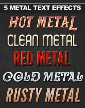 Metal Text and Styles by Cyferek