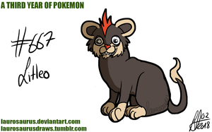 A third year of pokemon: #667 Litleo