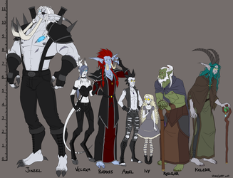 Warcraft OC Line-up by madcarrot