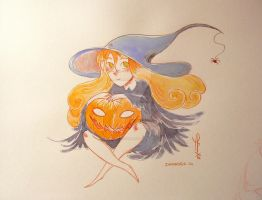 Witch - # Inktober 14 - 2014 by LaurierTheFox