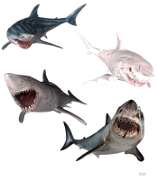 The Depth - Mako Sharks by MrUncleBingo
