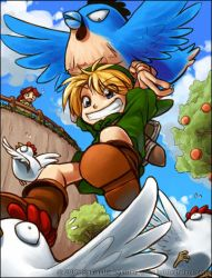 Flying Cucco ATTACK by celesse