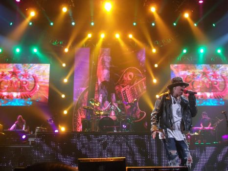 GUNS N ROSES in Paris Bercy 2012 by arienafer