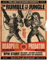deadpool vs predator by m7781