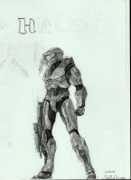 concept Halo5 cover -sketch- #2 by Anythingguy