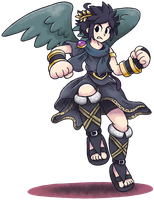 ''Mario+Luigi'' RPG Style: Dark Pit (Kid Icarus) by Master-Rainbow