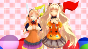 MMD Luna Amane and SeeU by AnjuSendo