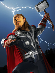 Me as Thor by 2barquack
