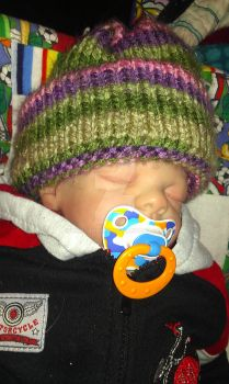 Knitting loom hat by MontanaKat
