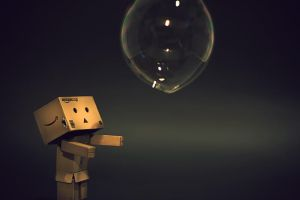 Danbo and the Soap Bubble by DesignJunkyGrafix
