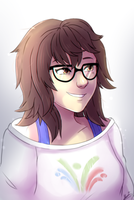 Overwatch- Mei's Bed hair by M-ang