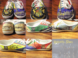 Harry Potter shoes by squidneyemma