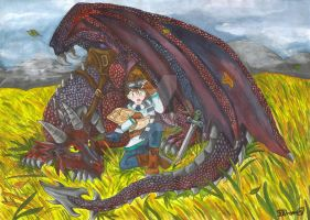 Lost Boy and his Dragon by AmaiRin