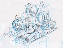 Ducktales In A Car sketch by little-ampharos