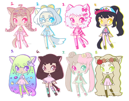 Neko Adopts [2/8 OPEN - PRICE LOWERED] by hello-planet-chan