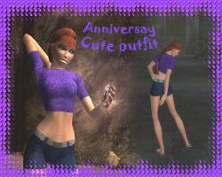 Anniversary cute outfit by Badty92