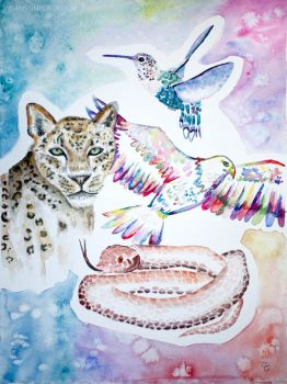 Animal painting by christinegeier