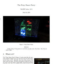 Document writing up the pony dance party by TheJBW