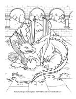 Treasure Dragon coloring page by TabLynn