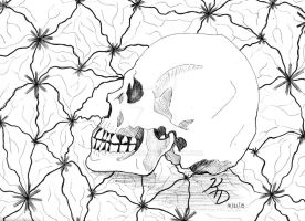 Drawlloween 2015 - Day 20: Skull by MangaKeri
