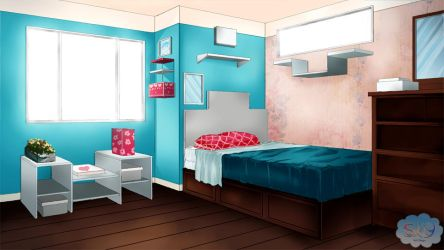 Visual novel Bedroom Background 1 by SKY-Morishita