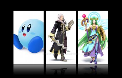 My three mains in Smash made by my boyfriend Toby by Frosty-Pop