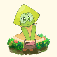 Peridot and her dress by RozuPandy