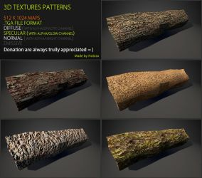 Free 3D textures pack 46 by Yughues