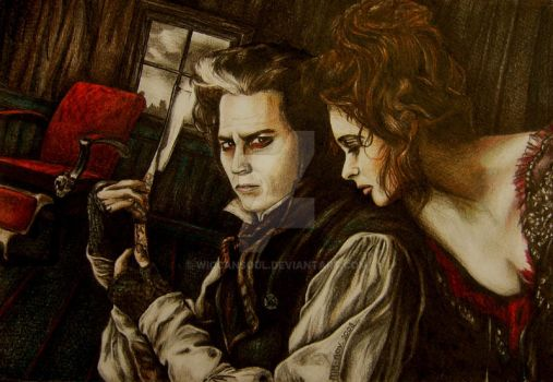 Sweeney Todd and Mrs Lovett by WiccanSoul