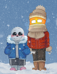 two gays in a snow storm by Tarulimint