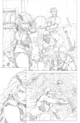 Red Sonja Test Page 03 by G-David
