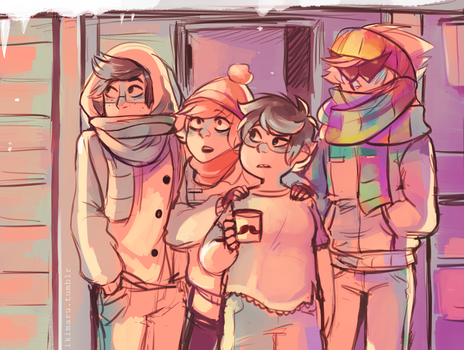 Not Used to the Cold by ikimaru-art