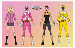 Pink and Yellow Lightspeed Rescue Rangers by Femmes-Fatales