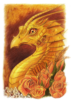 Yellow Dragon Doodle. by Kayas-Kosmos
