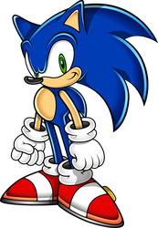 Sonic the Hedgehog (Sonic Adventure Art Style) by Sonic-Gal007