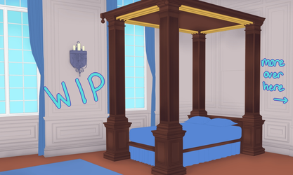 Castle Bedroom WIP by Lady-Suchiko