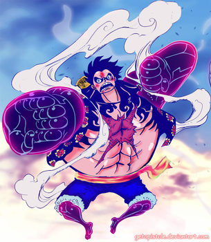 Luffy's Gear fourth by Getopistole