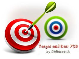 3D Target and Dart Icons (PSD) by softarea