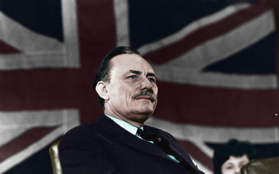 Enoch Powell circa 1968-1970s - Colorized by OldHank