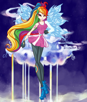 WINX:RAINBOW DASH by caboulla