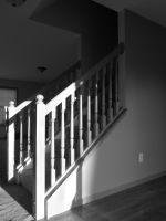 Stairway in Black and White by MillyT