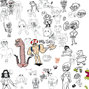 Drawpile battle toads by booshDawesome